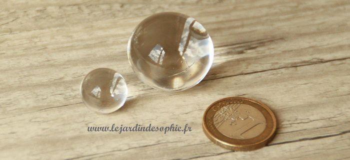 Différence taille des perles d'eau