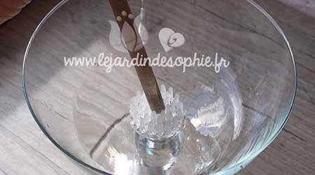 Mise en place du pique fleurs transparent